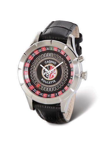 Hammacher Casino Roulette Wristwatch Animated Stainless Steel Analog