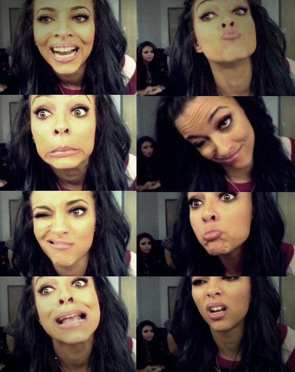 Haha Jade!! <3 <3 love those funny faces!!! You can see Jesy in the background lol