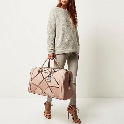 River Island Pink Patchwork Weekend Bag