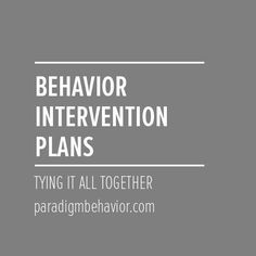 Here's the lowdown on handling [insert problem behavior here]. We're tying  together all the little tidbits we've learnt so far on problem behavior.  Click through to get insight on behavior intervention plans (BIP).