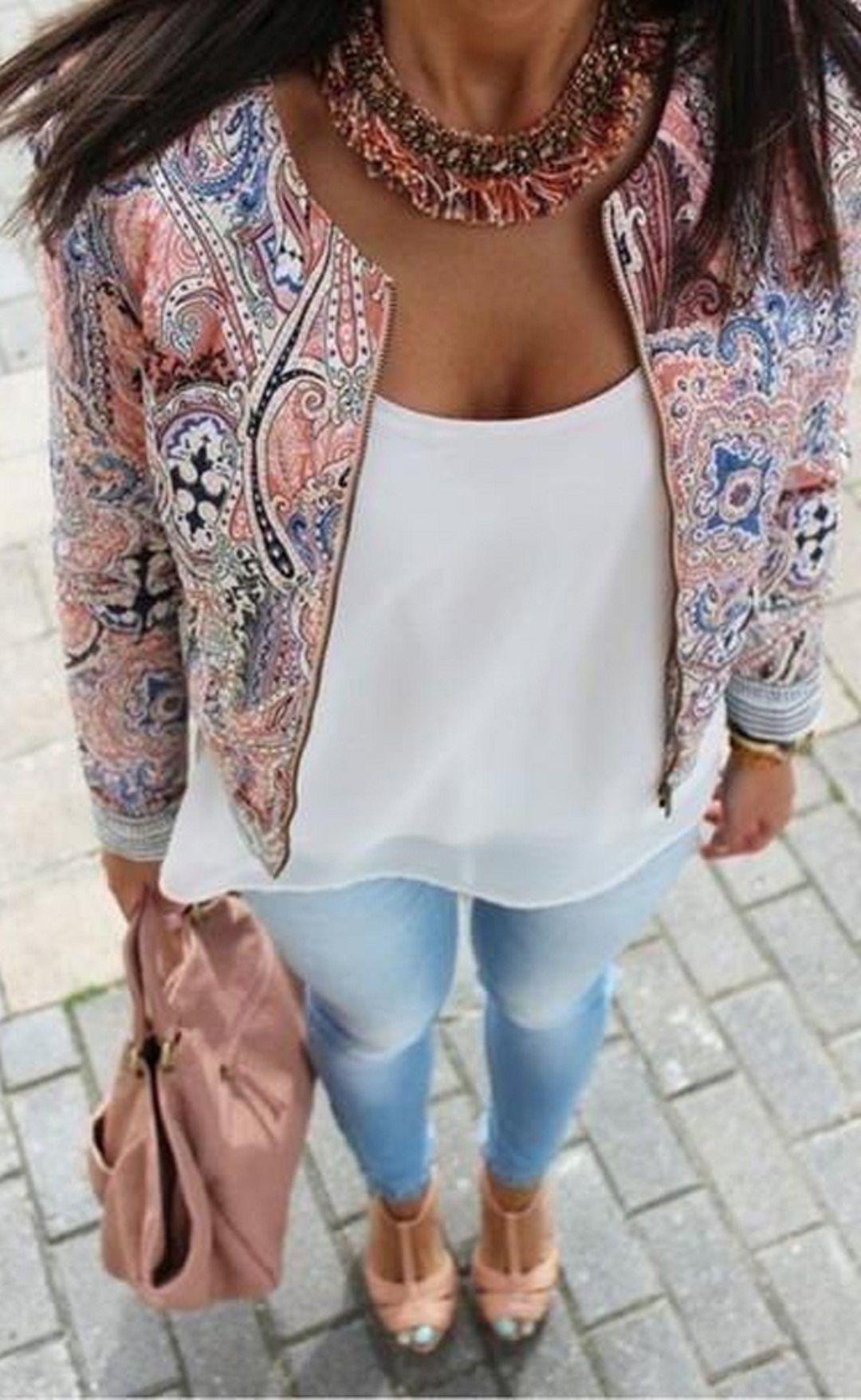 New Fashion Lady Women's O-neck Long Sleeve Print Jacket