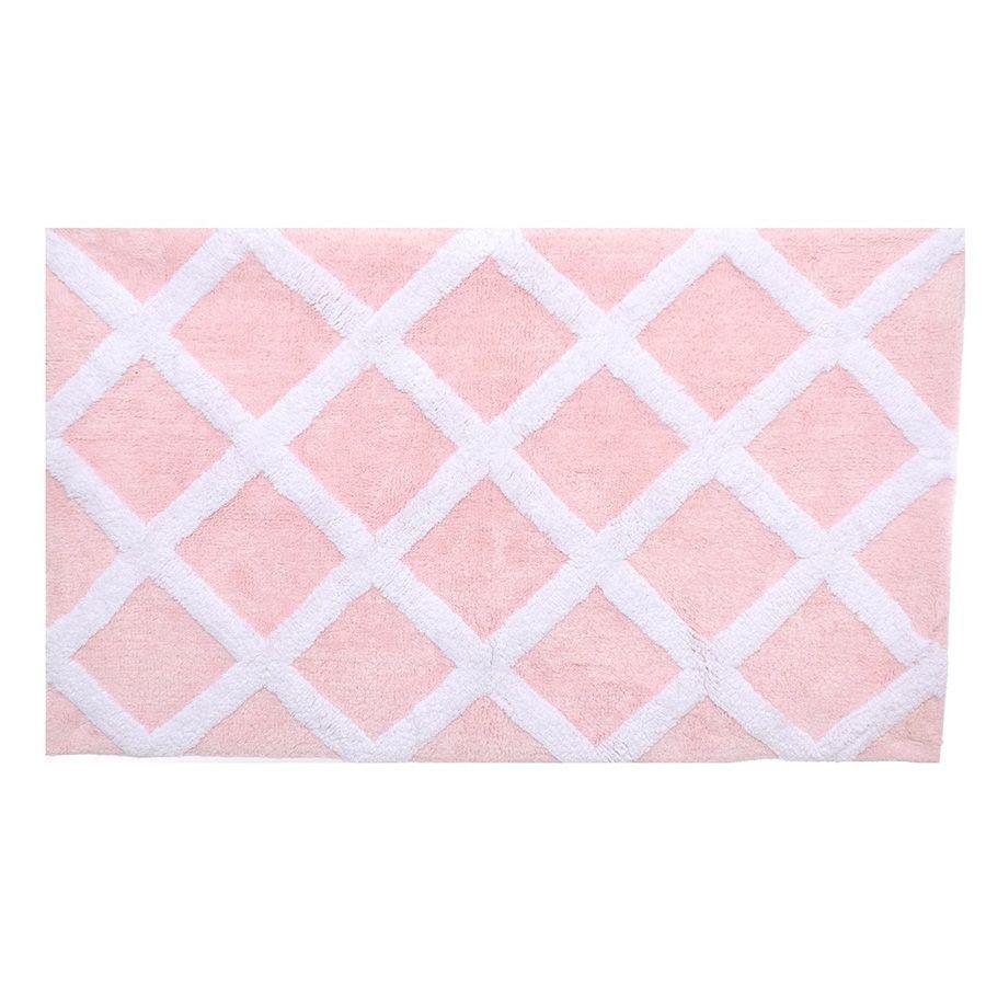 Pale Pink Bath Mat Bathroom Decor Pinterest Pink Baths Bath - Square bath mat for bathroom decorating ideas