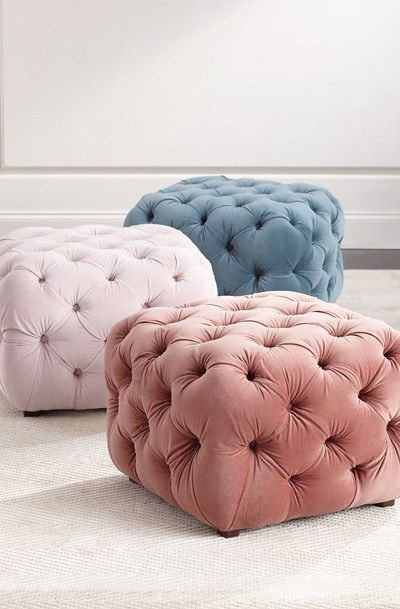 Busby Tufted Cube Ottoman | interior • motives | Pinterest ...
