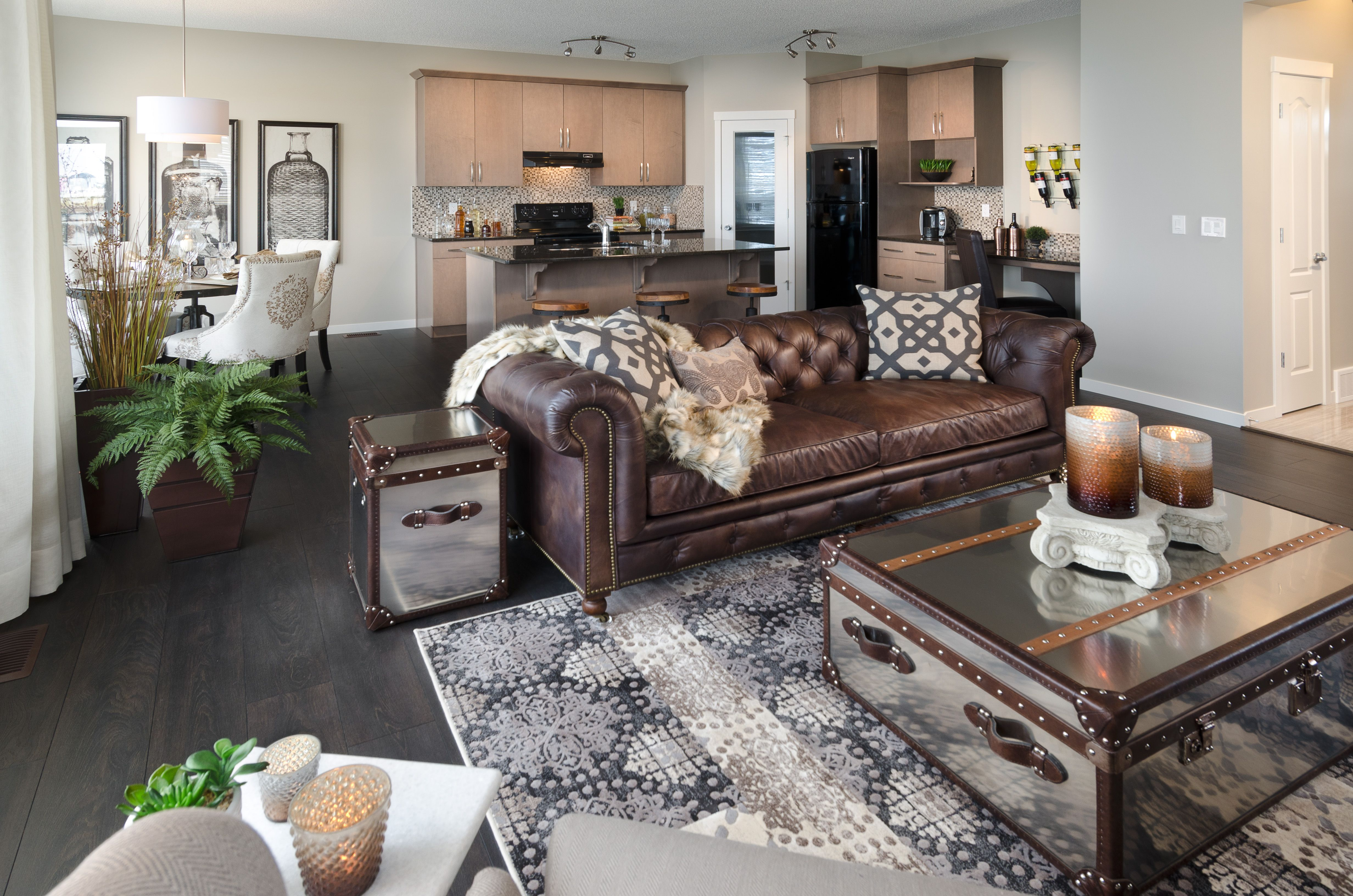 Sierra Showhome in New Brighton, beautiful brown leather ...