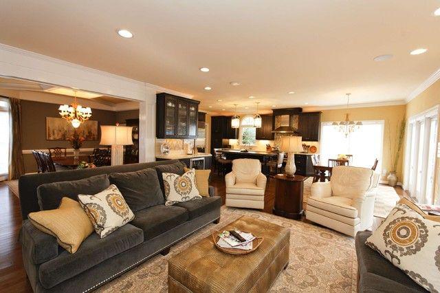 Beautiful Grey Yellow Brown Living Room