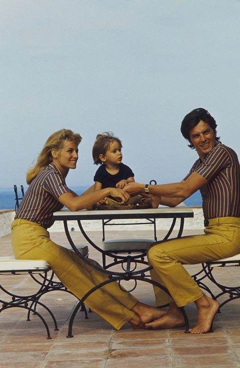 Alain Delon, his wife Nathalie and kid Anthony