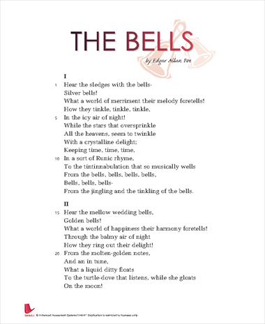 poe the bells