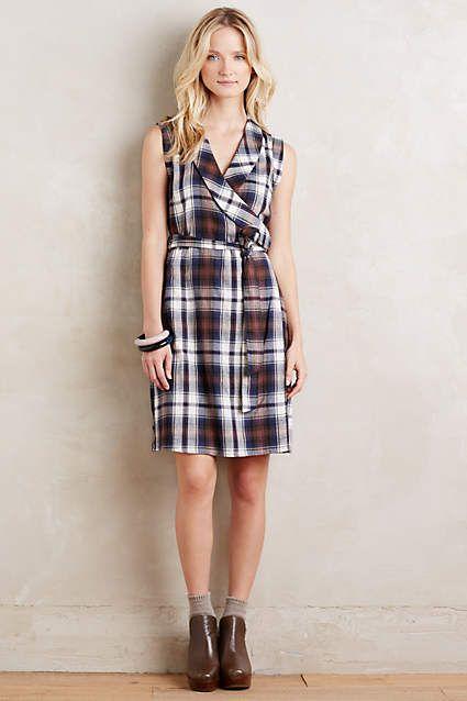 Wrapped Plaid Dress - anthropologie.com