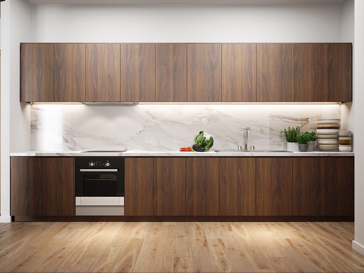 A Tour Of 4 Homes With Comfortable Wood Wall Treatments  Kitchen Cool Wardrobe Kitchen Designs Inspiration