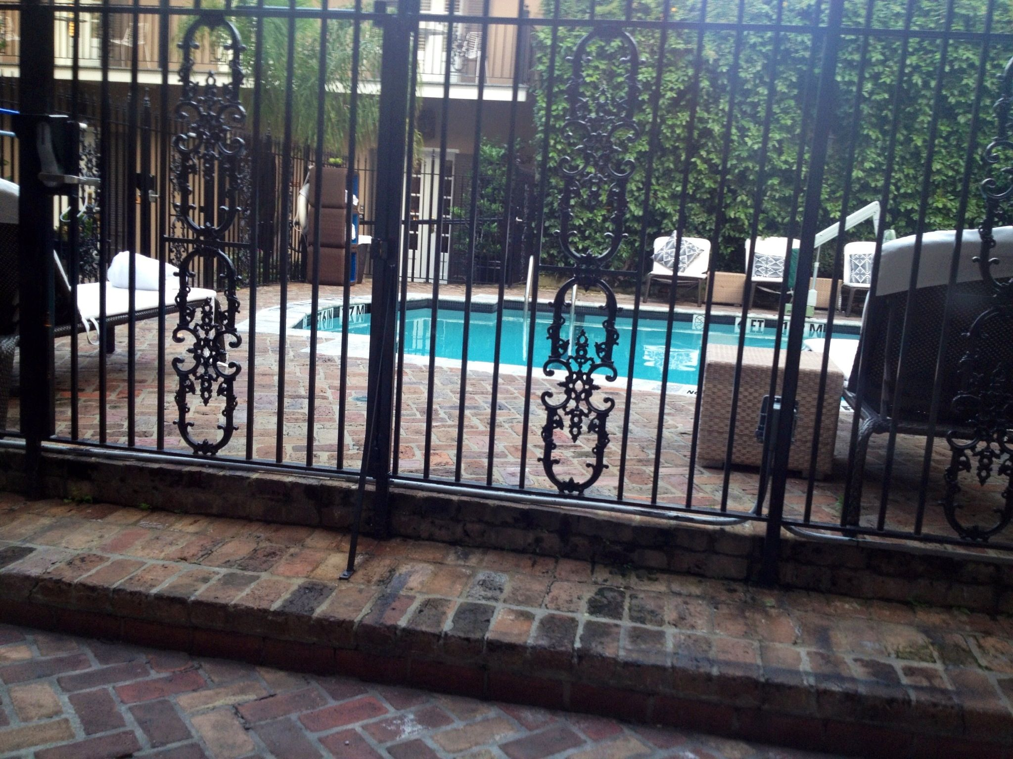 Wrought Iron Fence At Sobou Restaurant In New Orleans