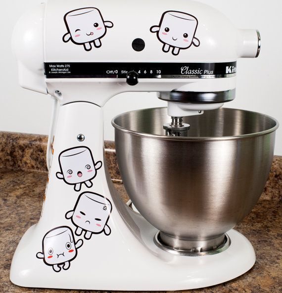 Tasty Marshmallows Kitchenaid Mixer Mixing Machine Decal