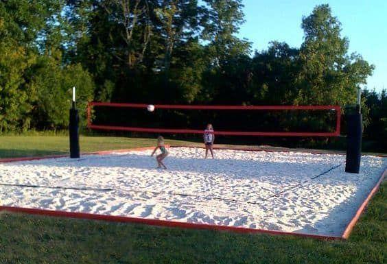 35 Of The Best Backyard Court Ideas Backyard Court Volleyball Court Backyard Sand Volleyball Court