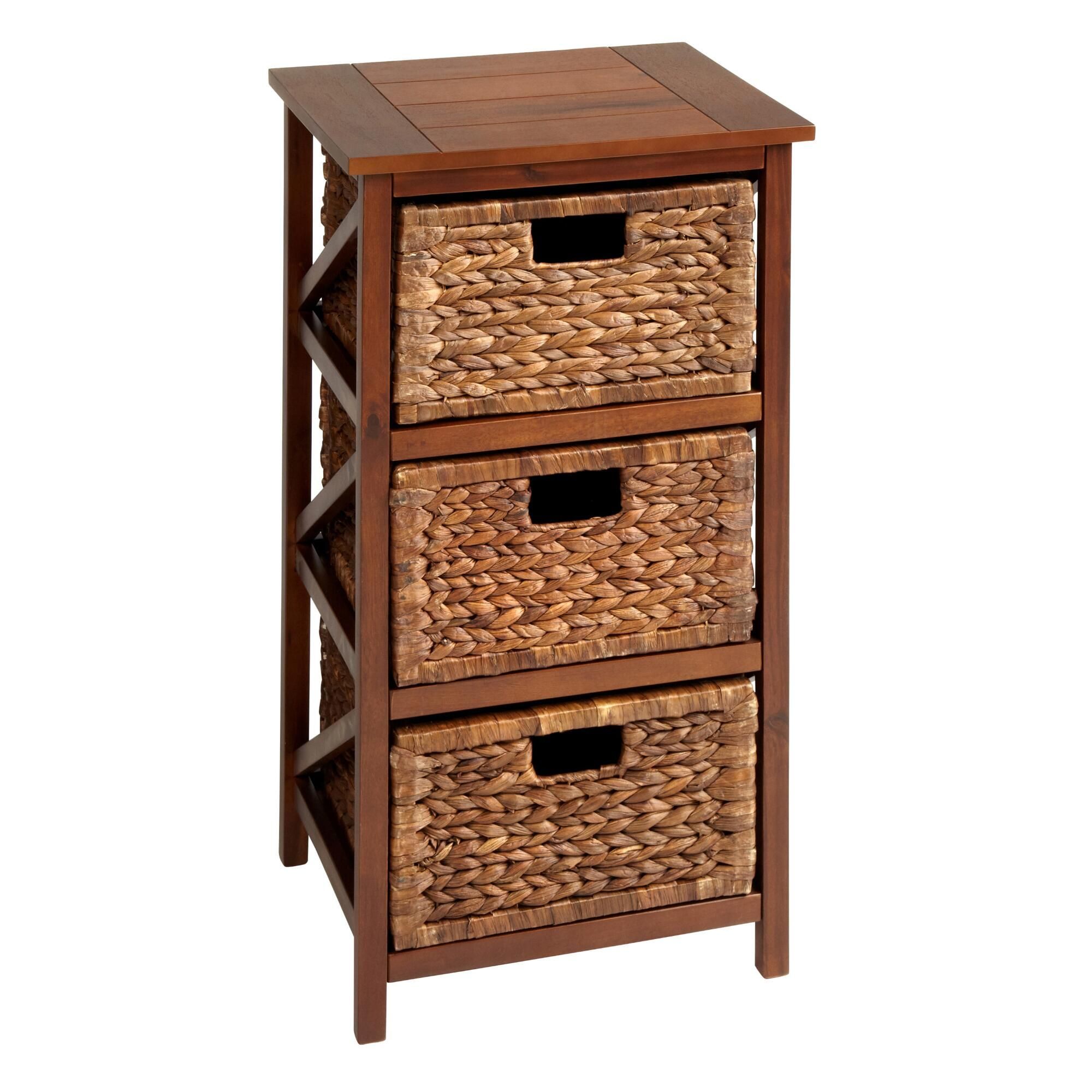 3-Basket Pecan Wood Storage Chest   Christmas Tree Shops andThat!