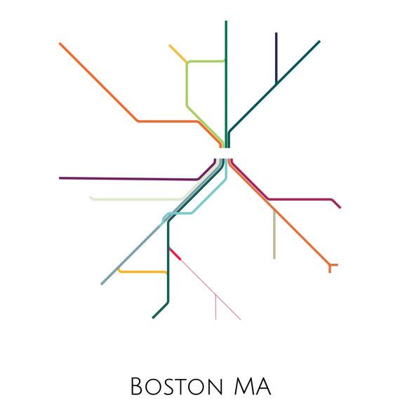 Boston Boston Subway Subway Art Boston Metro Map Boston Map