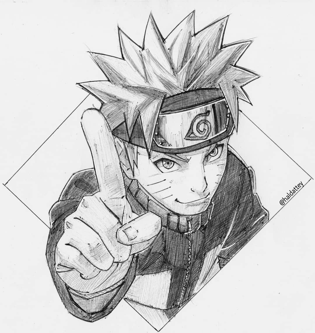 Drew Our Boy Naruto For My Sister S Birthday I Like The Highlights I Did With The White Pen Finally L Naruto Drawings Anime Character Drawing Naruto Sketch