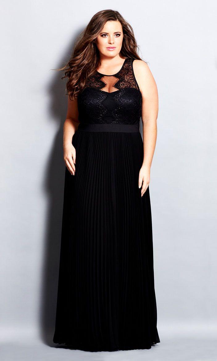 city chic - vanity maxi dress - women's plus size fashion | plus