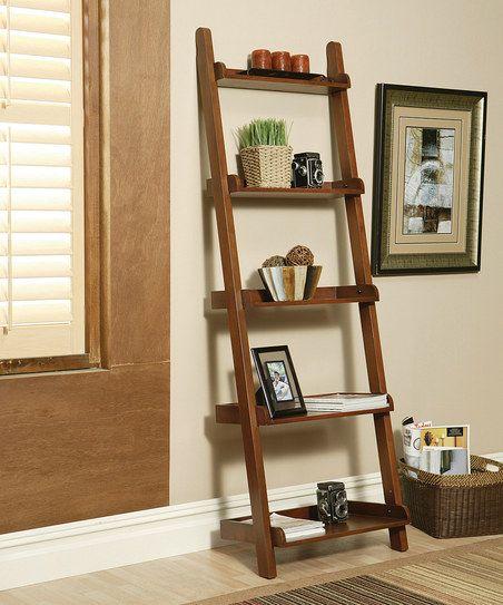 Rich Mahogany Ladder Bookcase