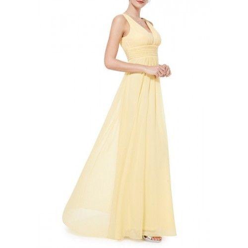 Vestido Para Bodas Largo Amarillo | Suen-Vestidos de fiesta