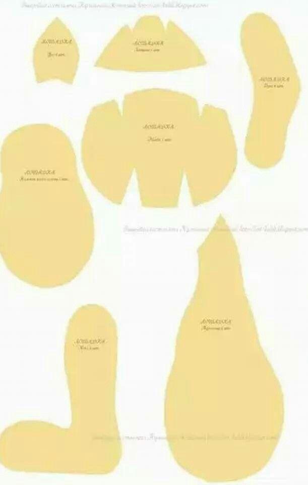 Moldes del reno grande de pie 😉😉😉   Bonecas   Pinterest   Bonecas ...