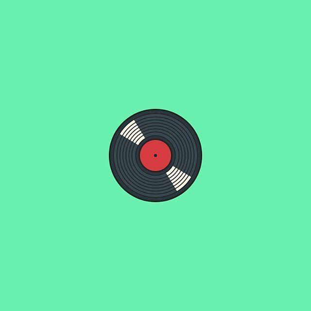 dave gamez on instagram lp record icon 64x64 aniconaday icon design flat lp record vinyl 64by64 iconaday