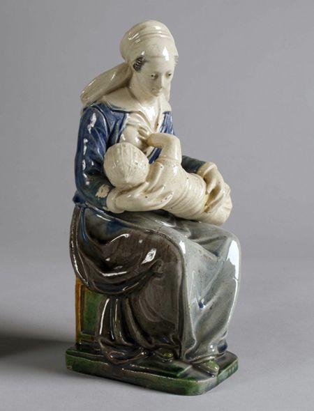 School of Paris  The Nurse  early 17th century  lead–glazed earthenware  9 1/4 x 4 3/8 x 4 in.
