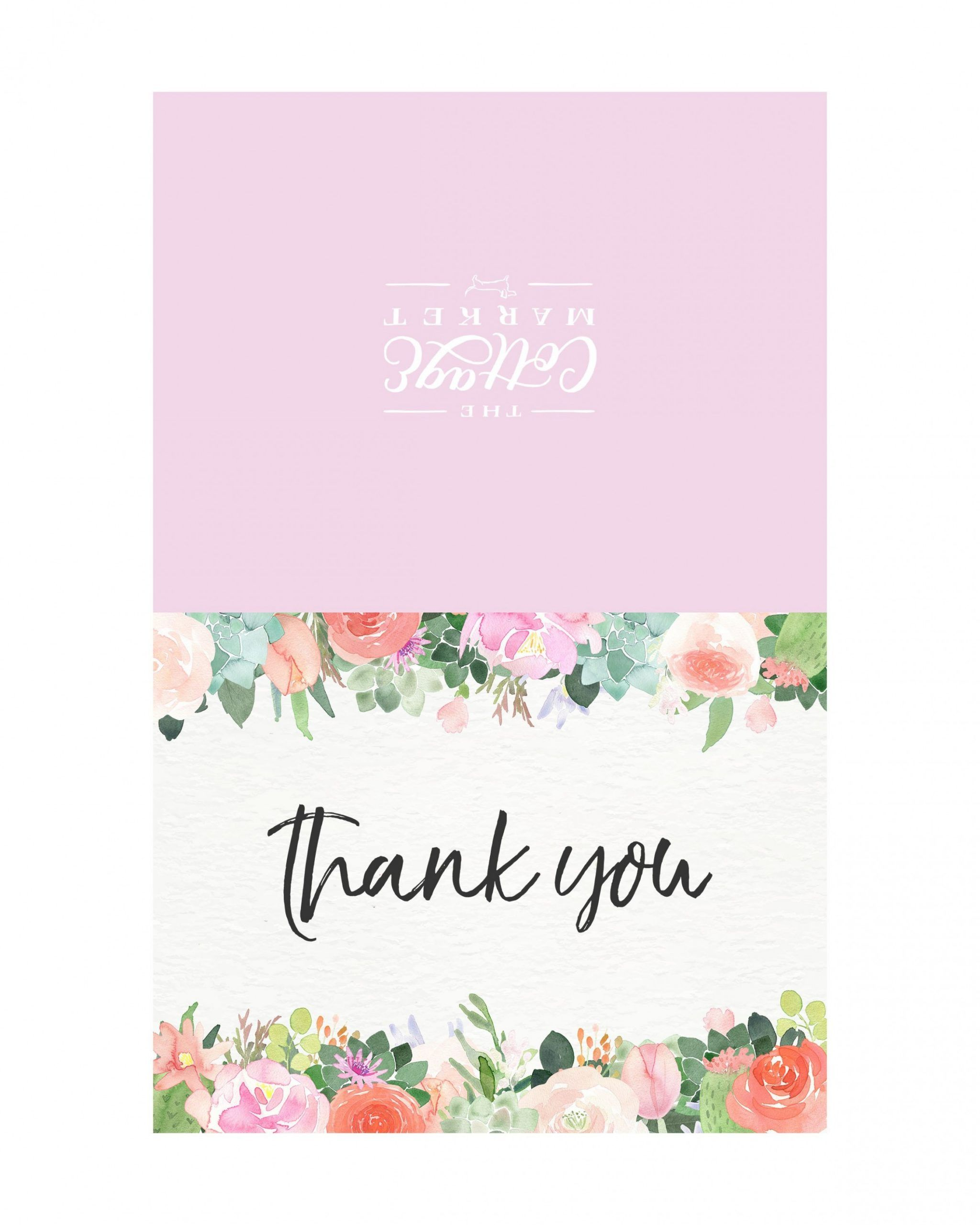 8 Best Print Thank You Cards In 2021 Printable Thank You Cards Note Card Template Print Thank You Cards
