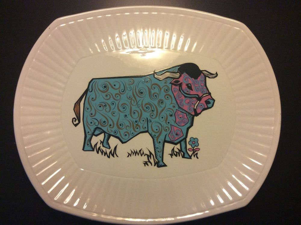 Unboxed Tableware British Date-Lined Ceramic Dinner Plates | eBay & Beefeater Ironstone Steak Plate. 1970s Green Bull Pattern | 60u0027S ...