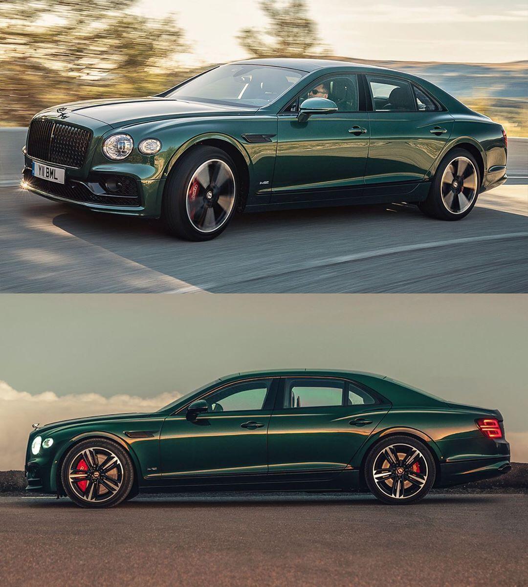 Car Design World On Instagram 2020 Bentley Flying Spur In British Racing Green Cardesign Car Design Bentley Flying Spur British Racing Green Bentley Car