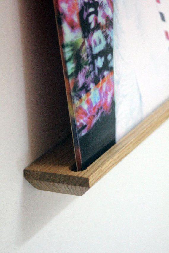 tablette murale support pr sentoir pour disque vinyle. Black Bedroom Furniture Sets. Home Design Ideas