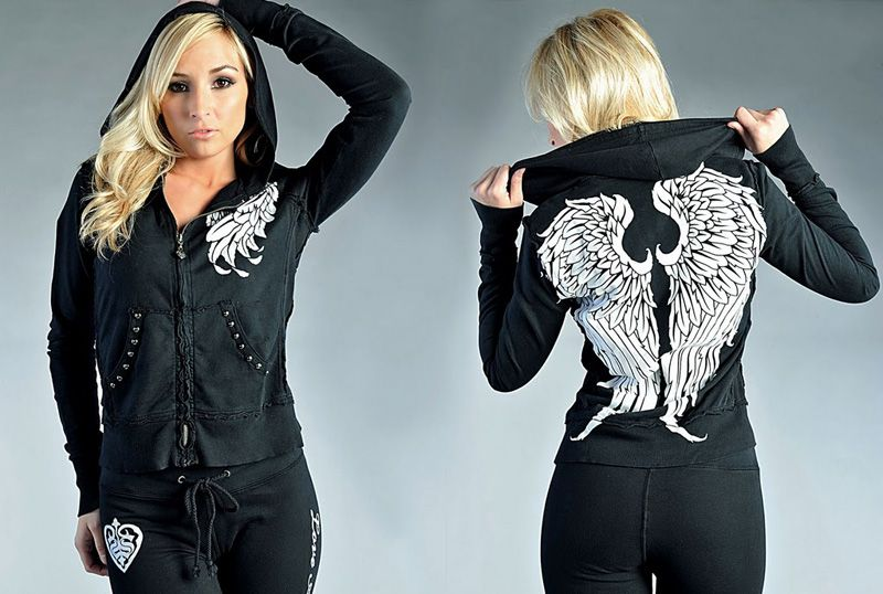 Sinful Wings tracksuit black [Sinful tracksuit] - $52.00 : Affliction  clothing sale online,