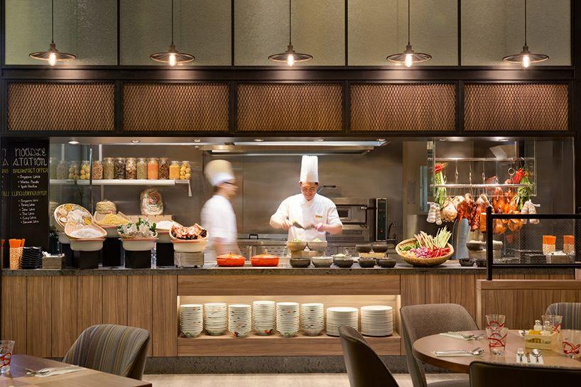Btr Workshop Refreshes Hotel Jen Tanglin In Singapore Restaurant Kitchen Design Open Kitchen Restaurant Restaurant Interior