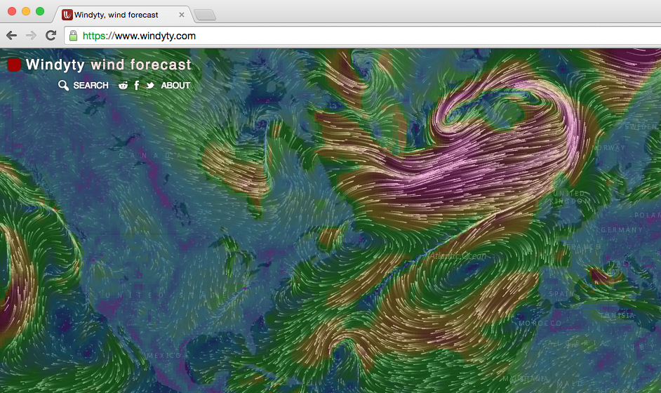 Ubercool wind animation all over the world
