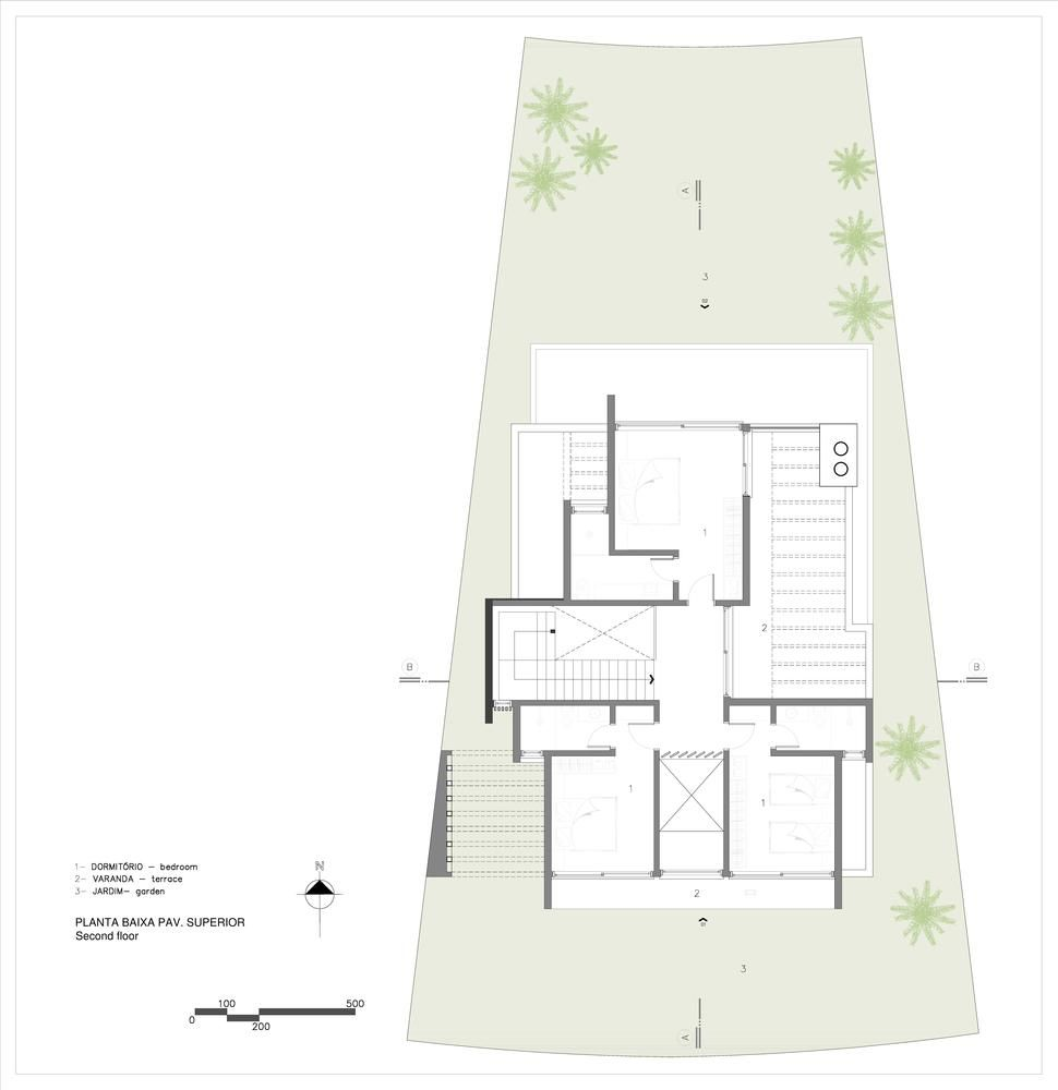 Gallery Of House 77 Aunic Arquitetos 20 In 2020 Ground Floor Plan House Plans Floor Plans