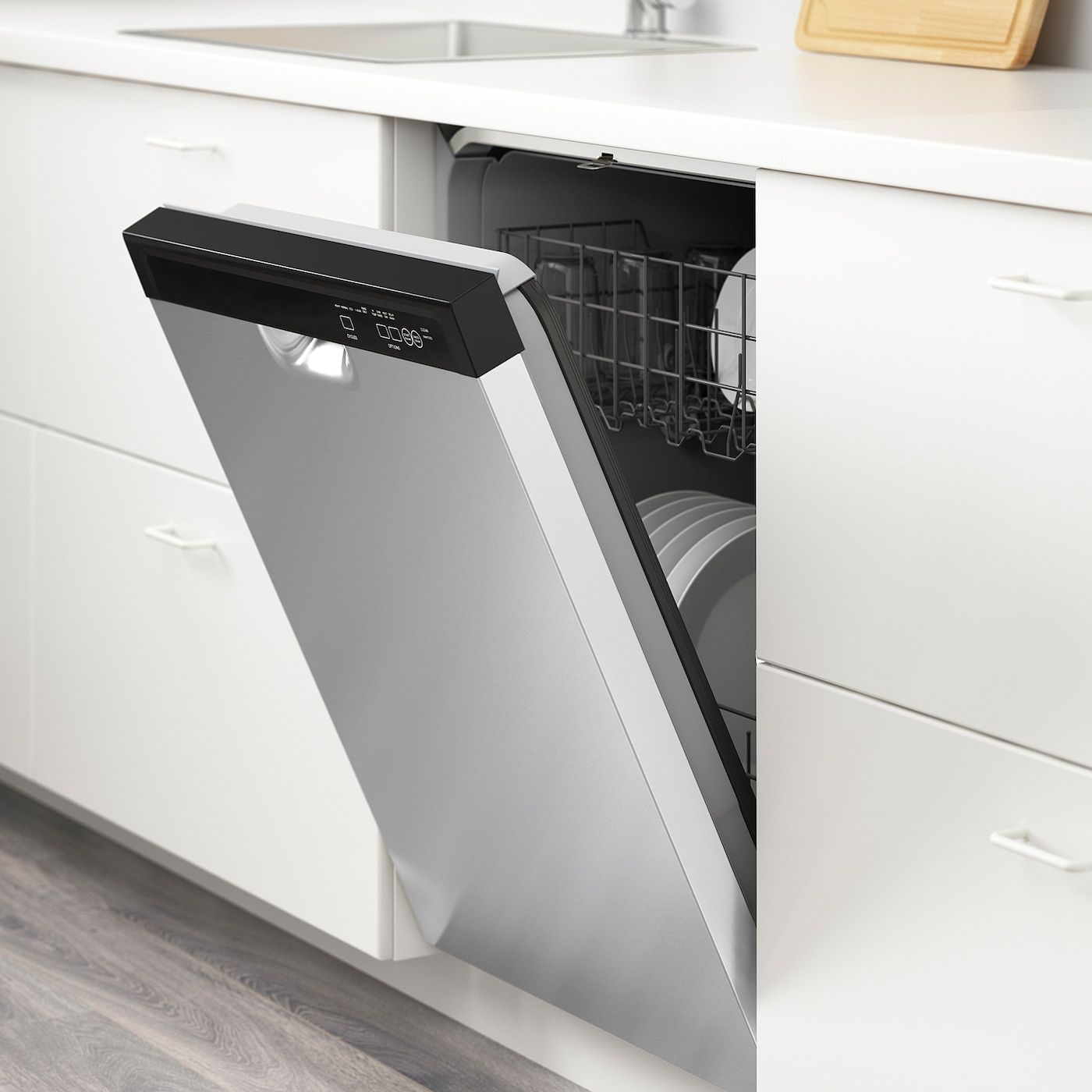 Ikea Renlig Lave Vaisselle Encastrable In 2020 Built In Dishwasher Countertop Dishwasher Dishwasher