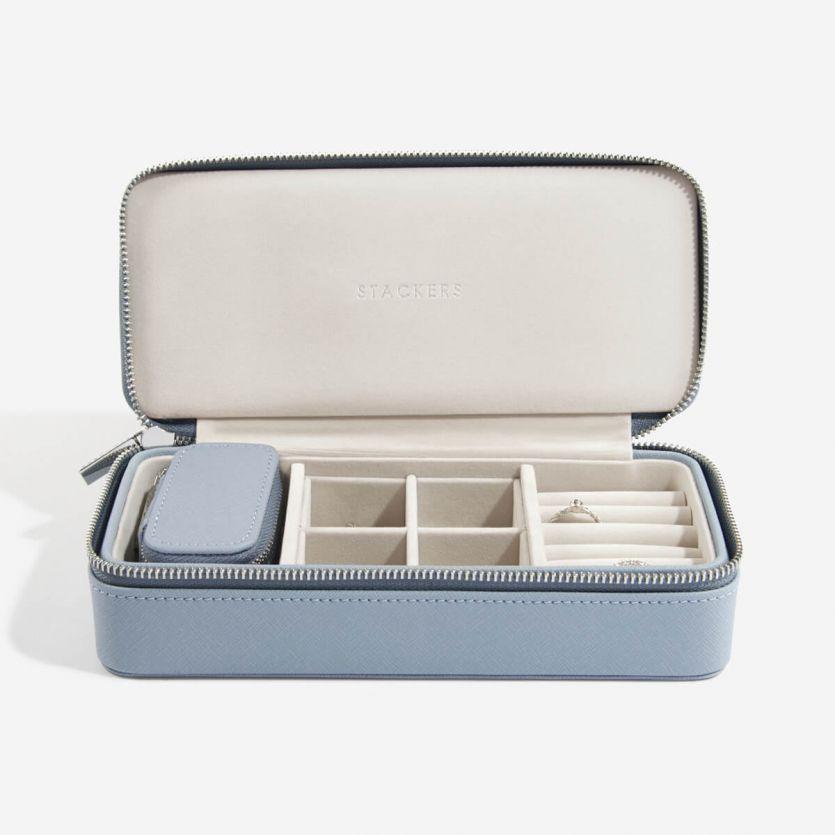 17aa2443b Dusky Blue Large Travel Jewellery Box in 2019 | Wishwish | Travel ...