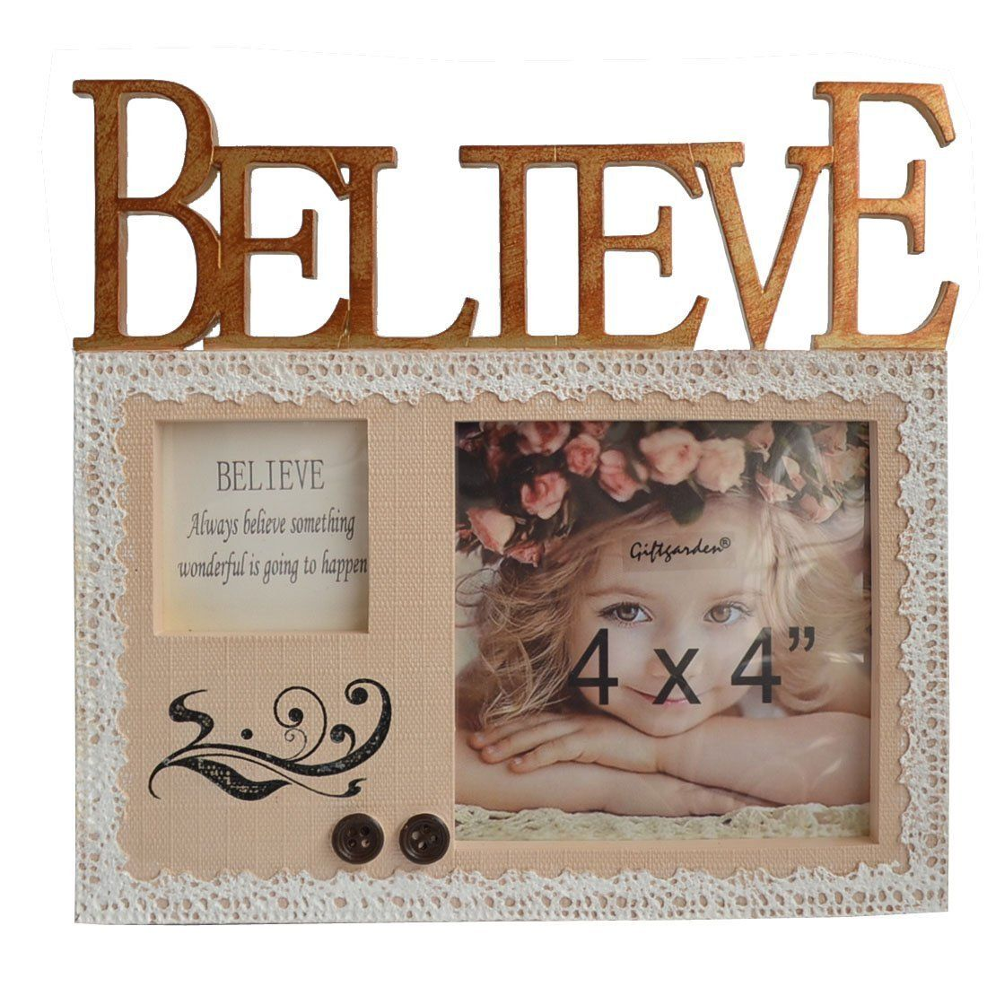 Giftgarden Friends Gift Believe Picture Frame 4x4 for Photo Display ...