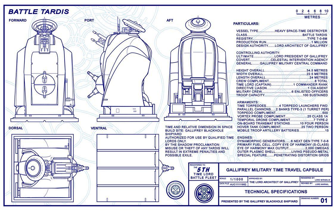 Battle TARDIS Schematics Page 1 (FINAL) by Time-Lord-Rilon ...