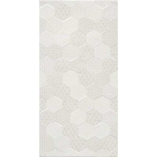 Atom White Hexagonal Decor Ceramic Tile 300 X 600mm Easy Bathrooms Hexagon Decor Wall Tiles Kitchen Wall Tiles Modern
