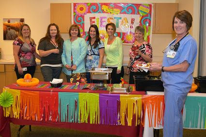 Nurses' Week 2016 was filled with fun: Fiesta breakfast, 'name that baby' contest, local scrub sale & free massages!
