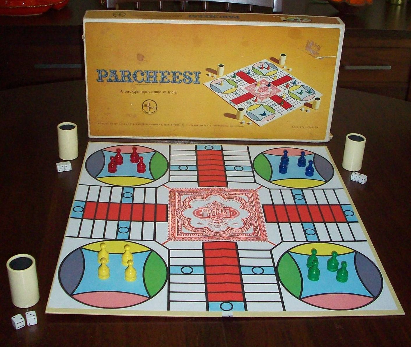 Parcheesi Board Game 1960s Toys Vintage Board Games