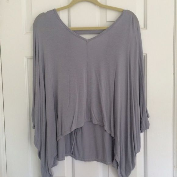 Flowy Grey Comfy Top Never worn. Beautiful top for lounging or going out! OS. Kokoon Tops