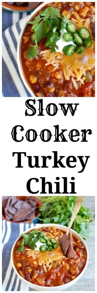 Photo of Slow cooker turkey chili