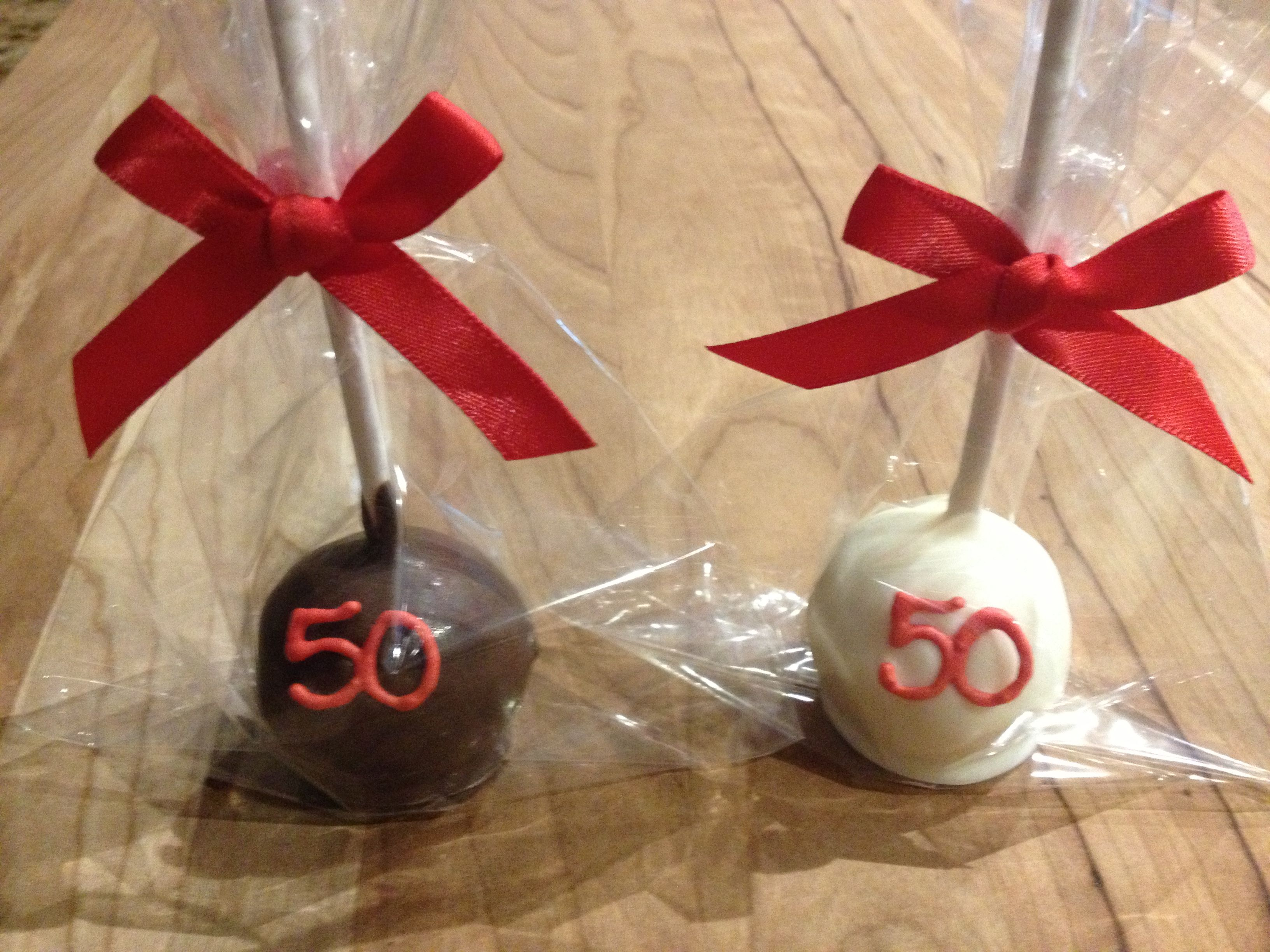 50th Birthday Cake Pops