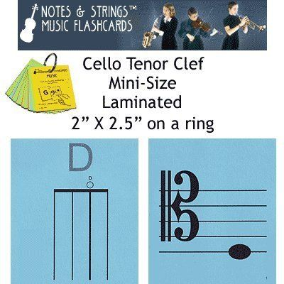 """Notes & Strings Cello Tenor Clef 2""""X2.5"""" Mini-On-A-Ring Size Laminated Flashcards by Notes & Strings. $15.98. The mission of Notes & Strings is excellence in providing quality music education products to music students around the world. Notes & Strings Music Flashcards are very popular with music teachers, music students, and music stores. These flashcards help make the learning of music easy and fun. Deborah Spiegel, a Suzuki violin teacher, designed these note reading and..."""