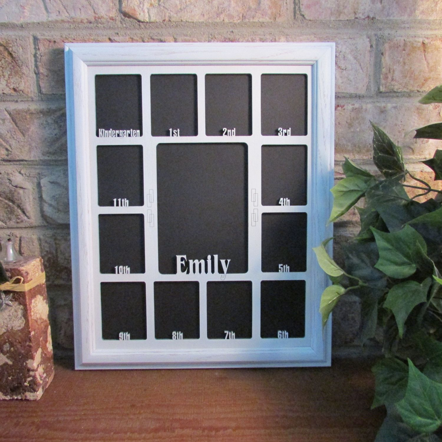 School Years Picture Frame Personalized Holds Twelve Etsy School Picture Frames School Years Picture Frame School Photo Frames