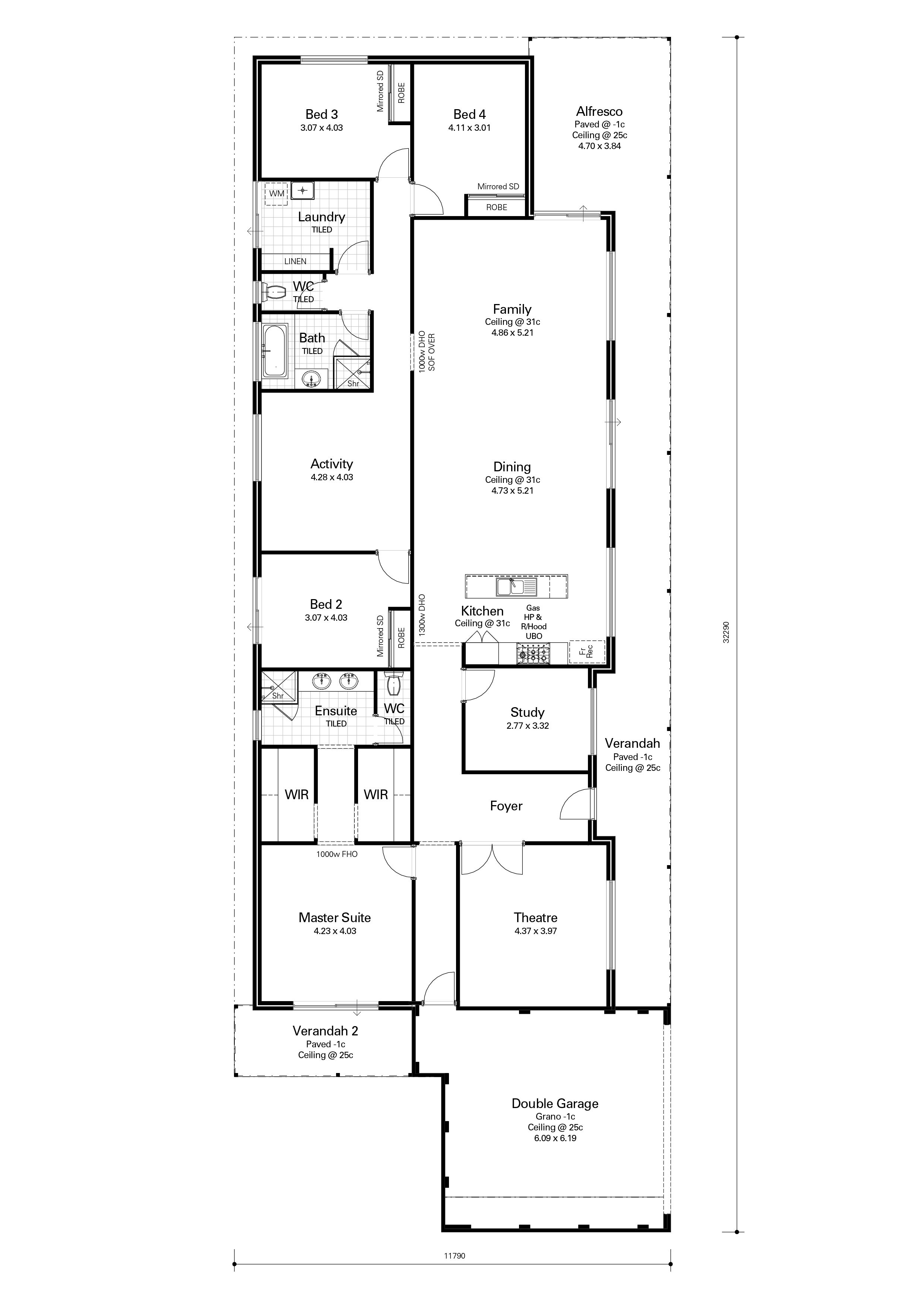 Ashby - Redink. Rear load? - put the garage where bedroom 3 /4 are ...