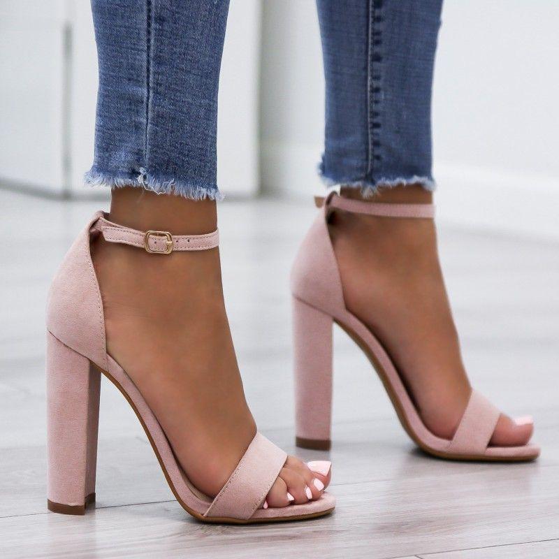Sandaly Na Slupku Klasyczne Zamsz Rozowe Ariel Fashion Heels Heels Shoes Heels Classy