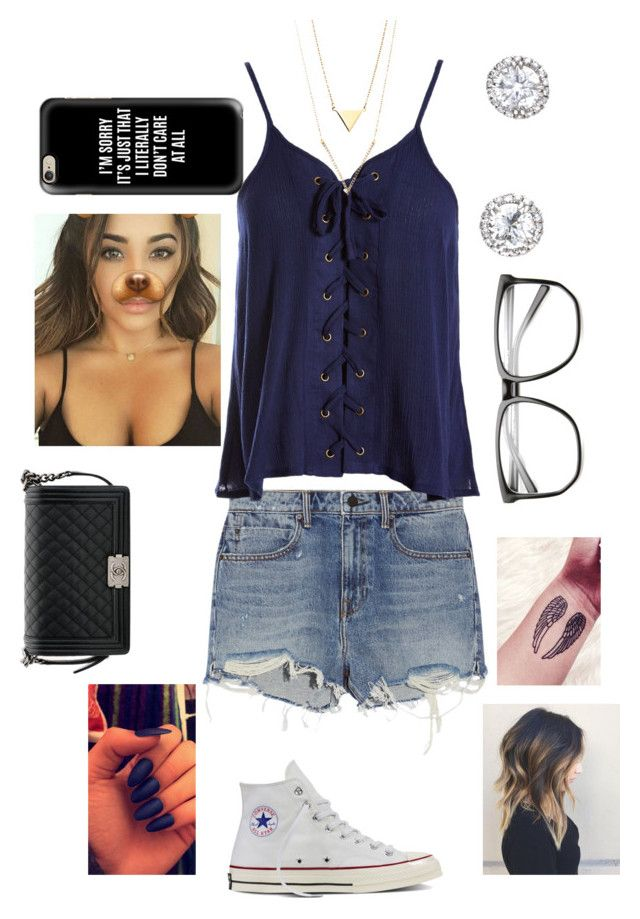 """""""Untitled #607"""" by haaiilleeyy13 ❤ liked on Polyvore featuring Alexander Wang, Sans Souci, Converse, Chanel and Casetify"""