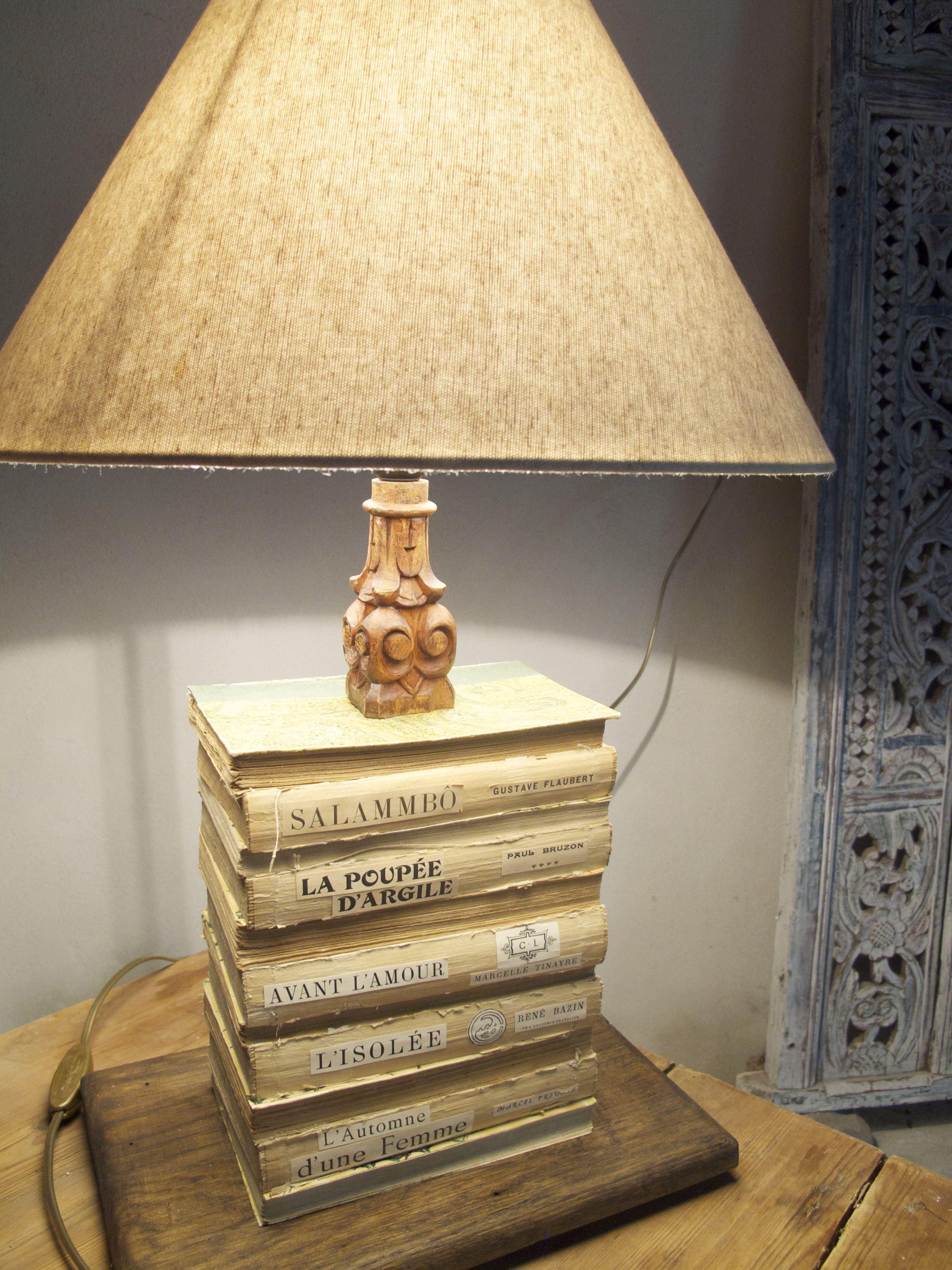 french vintage book lamps a pair of vintage upcycled table lamps