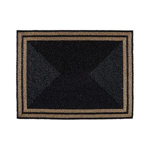 Breckenridge Beaded Placemat in Black and Gold